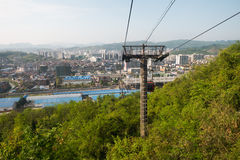 Cable car/ ropeway to tianmen mountain Royalty Free Stock Photography