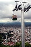Cable Car, Salta, Argentina. A cable car over Salta in Argentina royalty free stock photography