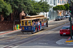 Cable car in San Francisco Royalty Free Stock Photos