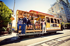 Cable car in San Francisco Stock Images