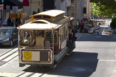 Cable Car in San Francisco. Famous Cable Car in San Francisco California royalty free stock photography