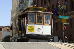 Cable Car in San Francisco. Famous Cable Car in San Francisco California royalty free stock photos