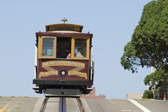 Cable Car in San Francisco. Famous Cable Car in San Francisco California royalty free stock images