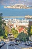 Cable car in San francisco,California Royalty Free Stock Image