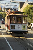Cable car in San Francisco - California. Cable car at the sunset in San Francisco - California royalty free stock photo