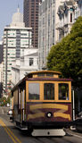 Cable Car in san Francisco. California, USA royalty free stock image