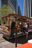 Cable Car in San Francisco, California USA. Cable Car in San Francisco from May 2, 2017, California USA royalty free stock image