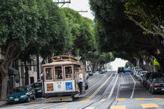 Cable car in San Francisco. The famous Cable car in San Francisco stock image