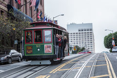 Cable car in San Francisco. The famous Cable car in San Francisco royalty free stock image