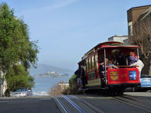 Cable car in San Francisco. stock photography