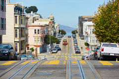 Cable car in San Francisco, USA. Cable car in San Francisco, California, USA stock images
