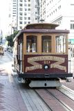 Cable car in san francisco. View of the historical cable car in san franscisco, usa stock image