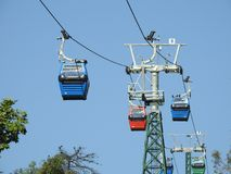 Cable car in Santiago, Chile Royalty Free Stock Photography