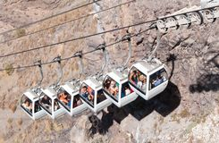 Cable car in Santorini, Greece Stock Photo