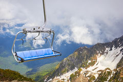 Cable car in the scenic mountains Royalty Free Stock Photo