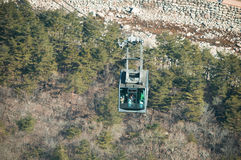 Cable car at Seoraksan Stock Photography