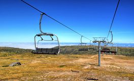 Cable car in Serra da Estrela Stock Photography