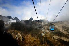Cable car in Shangri-La, Yunan, China Royalty Free Stock Images