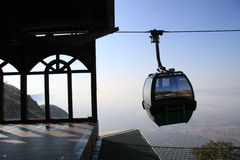 Cable Car Silhoutte Royalty Free Stock Image