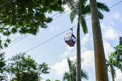 The cable car in singapore stock photos