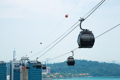 Cable car in singapore. Royalty Free Stock Photo