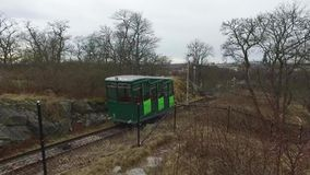 Cable car at Skansen, Stockholm, Sweden stock video footage
