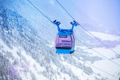 Cable car for ski lifting Stock Image