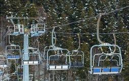 Cable car at a ski resort. Royalty Free Stock Image