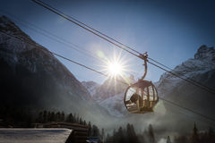 Cable Car in Ski Resort Stock Photos