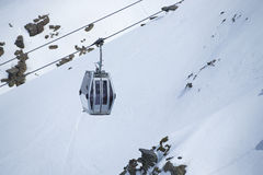 Cable car in ski Resort Royalty Free Stock Photo
