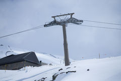 Cable car in ski Resort Sierra Nevada Royalty Free Stock Photos