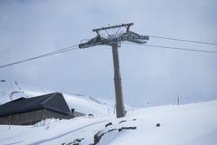 Cable car in ski Resort Sierra Nevada Royalty Free Stock Photos