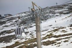 Cable car in ski Resort Sierra Nevada Royalty Free Stock Image