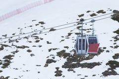 Cable car in ski Resort Sierra Nevada Royalty Free Stock Photo