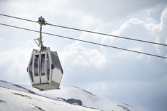 Cable car in ski Resort Sierra Nevada Royalty Free Stock Photography