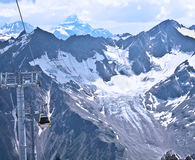 Cable car on the ski resort. Stock Photo