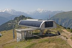 Cable car station Stock Images