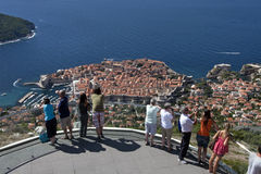 Cable Car station above the old town Dubrovnik Stock Images