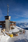 Cable-car station in alps Stock Image