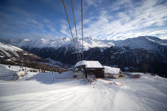 Cable-car station in alps Stock Photo