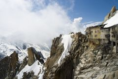 Cable Car Station - Chamonix, France Stock Photos
