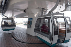 The cable car station on the coast Tejo - Lisbon Royalty Free Stock Photos