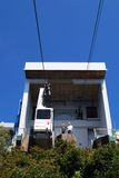Cable car station, Gibraltar. Royalty Free Stock Images