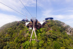 Cable car station, Gunung Machinchang, Langkawi Royalty Free Stock Photo