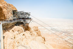 cable car at the station on Masada Royalty Free Stock Photography