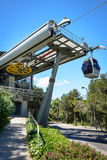 Cable car station, Montjuic - to Barcelona Stock Image