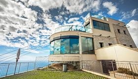 Cable car station on the mountain Sdr in Dubrovnik. Croatia royalty free stock image