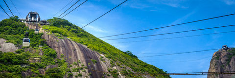 Cable car station on mountain Stock Image