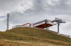 Cable car station Skyliner of the ski resort Goldeck. The Alps, Austria Royalty Free Stock Photo