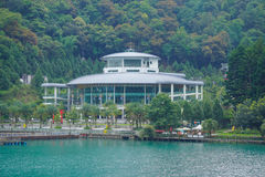 The cable car station in Sun Moon Lake. When we go here we have to go there for the beautiful scenic view stock photos